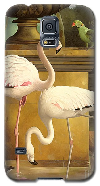 Parakeet Galaxy S5 Case - Flamingos by Lizzie Riches
