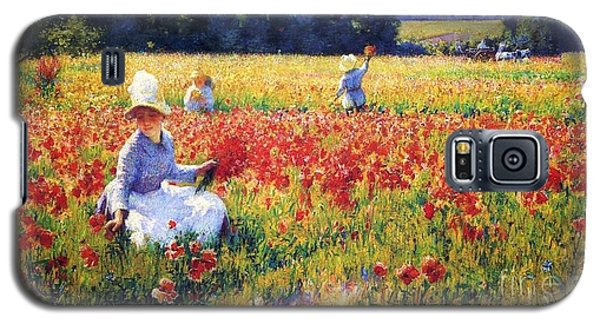 Flanders Fields Where Soldiers Sleep And Poppies Grow Galaxy S5 Case by Pg Reproductions