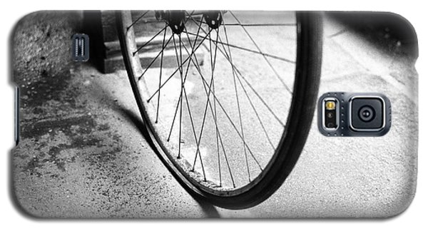 Galaxy S5 Case featuring the photograph Flat Bicycle Tire by Dave Beckerman
