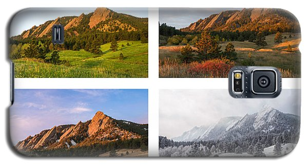 Flatirons Four Seasons With Border Galaxy S5 Case
