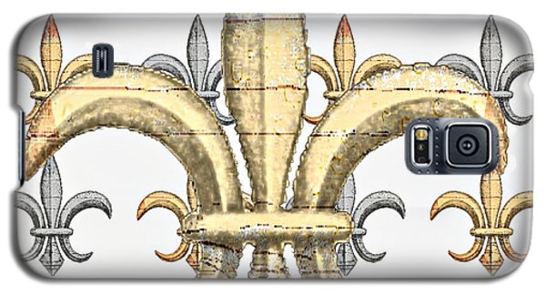 Fleur De Lys Silver And Gold Galaxy S5 Case