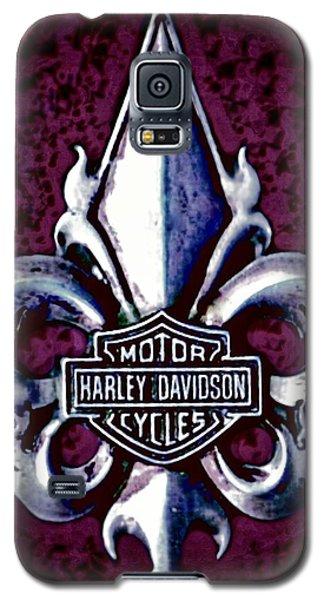 Fleurs De Lys With Harley Davidson Logo Galaxy S5 Case