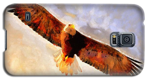Galaxy S5 Case featuring the painting Flight Of The Eagle by Wayne Pascall