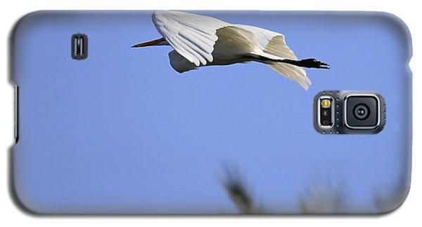 Galaxy S5 Case featuring the photograph Flight Of The Egret by Penny Meyers