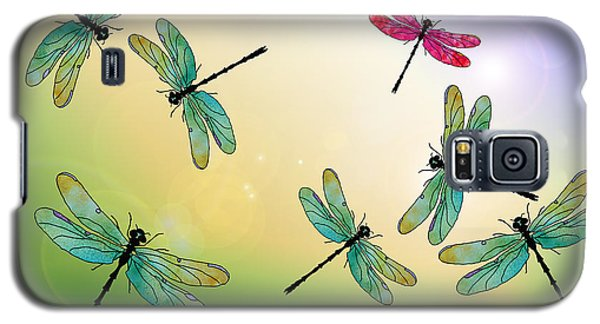 Flight Of The Scarlet Lady Galaxy S5 Case by Jenny Armitage