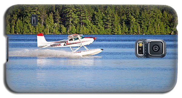 Galaxy S5 Case featuring the photograph Float Plane Landing On The Lake by Barbara West
