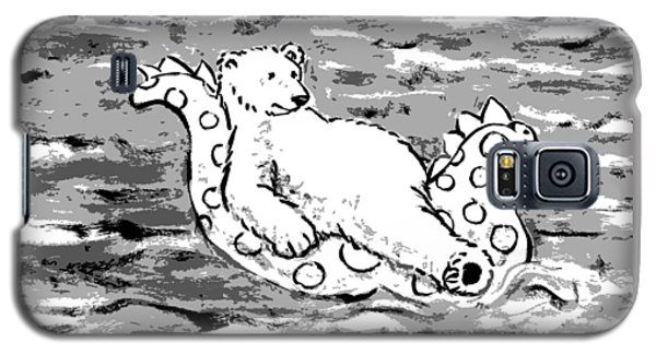Floating Bear Grisaille Galaxy S5 Case by Holly Wood