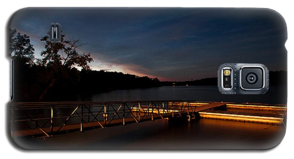 Galaxy S5 Case featuring the photograph Floating Dock At Deer Creek by Haren Images- Kriss Haren