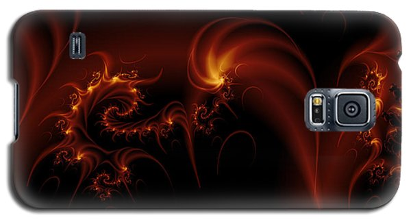 Floating Fire Fractal Galaxy S5 Case