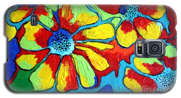 Galaxy S5 Case featuring the painting Floating Flowers by Alison Caltrider