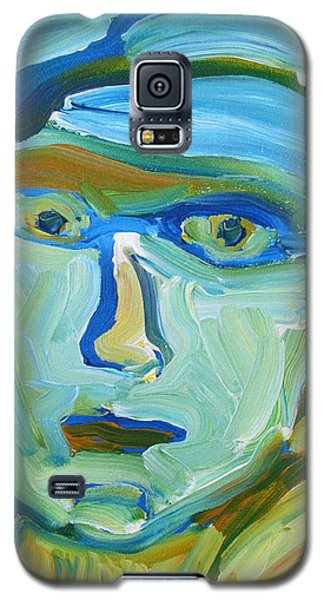 Galaxy S5 Case featuring the painting Floating Head by Shea Holliman