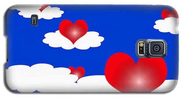 Floating Hearts Galaxy S5 Case by Rachel Lowry