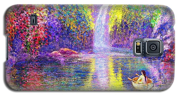 Galaxy S5 Case featuring the painting Floating by Jane Small