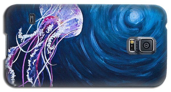 Galaxy S5 Case featuring the painting Floating by Melissa Sherbon