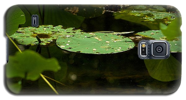 Galaxy S5 Case featuring the photograph Floating World 1 - Lily Pads  by Jane Eleanor Nicholas