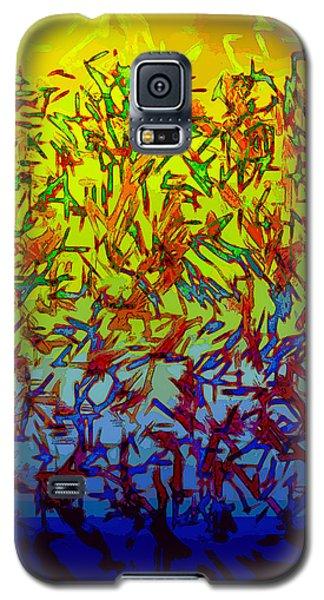 Galaxy S5 Case featuring the digital art Flock by Matt Lindley