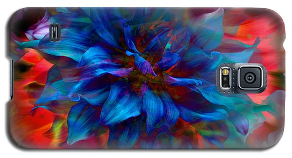 Floral Abstract Color Explosion Galaxy S5 Case by Stuart Turnbull