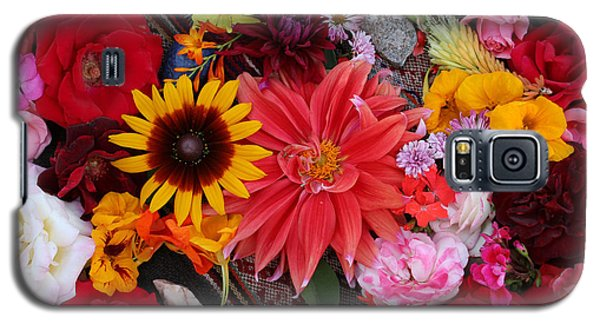 Galaxy S5 Case featuring the photograph Floral Bounty by Jeanette French