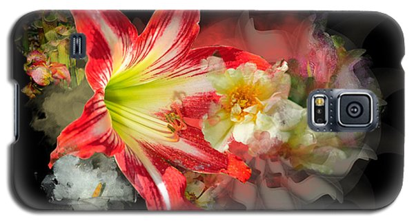 Galaxy S5 Case featuring the digital art Floral Explosion by Davina Washington