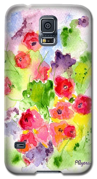 Galaxy S5 Case featuring the painting Floral Fantasy by Paula Ayers