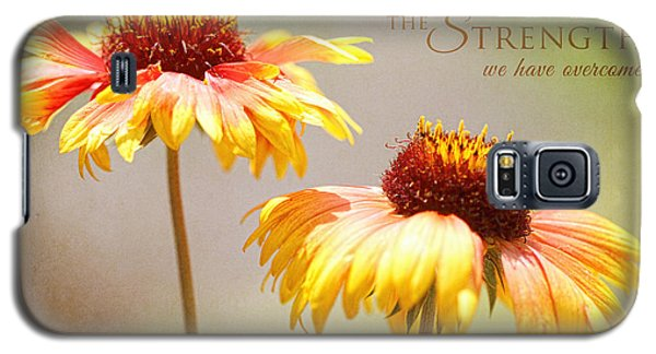 Floral Sunshine With Message Galaxy S5 Case