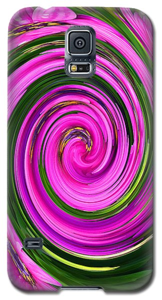 Galaxy S5 Case featuring the photograph Floral Swirl 2 by Margaret Saheed