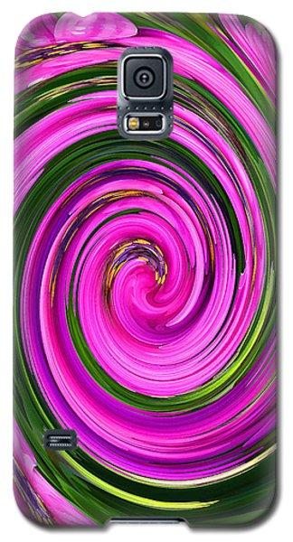 Floral Swirl 2 Galaxy S5 Case by Margaret Saheed