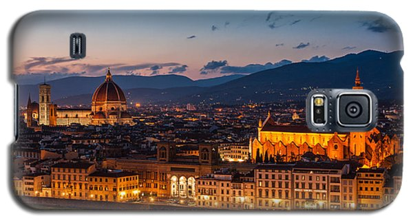 Florence City At Night Galaxy S5 Case by Gurgen Bakhshetsyan