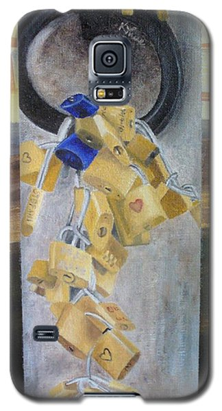 Galaxy S5 Case featuring the painting Florence Locks by Karin Thue