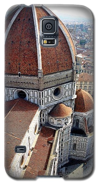 Florence Tile Roof Church Galaxy S5 Case by Henry Kowalski