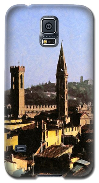 Galaxy S5 Case featuring the digital art Florence Towers by Spyder Webb