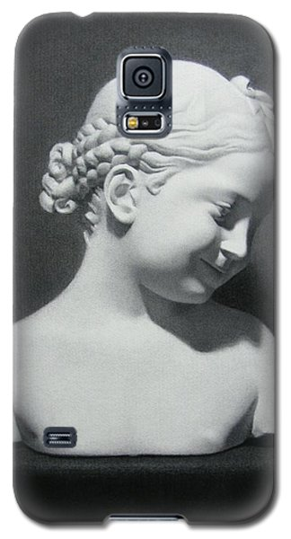Galaxy S5 Case featuring the painting Florentine Girl  by Margit Sampogna