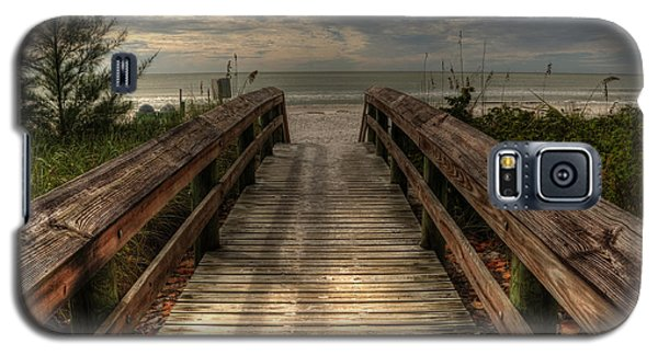 Florida Beach Entrance With A Beautiful Sky Galaxy S5 Case