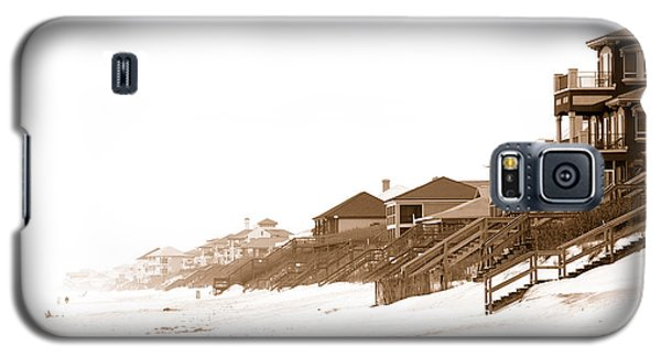 Florida Beach Sepia Print Galaxy S5 Case by Charles Beeler