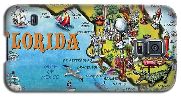 Florida Cartoon Map Galaxy S5 Case