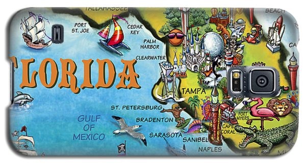 Florida Cartoon Map Galaxy S5 Case