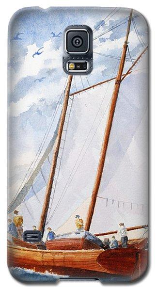 Florida Catboat At Sea Galaxy S5 Case by Roger Rockefeller