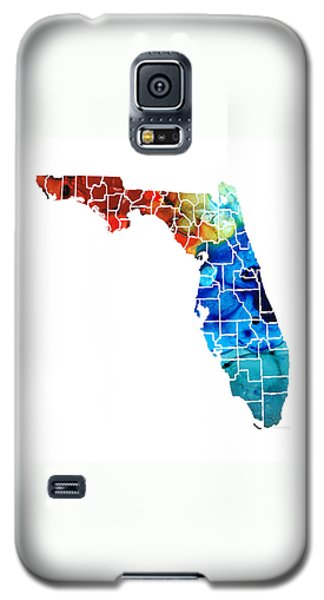 Florida - Map By Counties Sharon Cummings Art Galaxy S5 Case by Sharon Cummings
