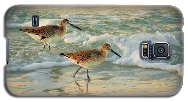 Florida Sandpiper Dawn Galaxy S5 Case by Henry Kowalski