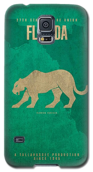 Florida State Facts Minimalist Movie Poster Art  Galaxy S5 Case by Design Turnpike