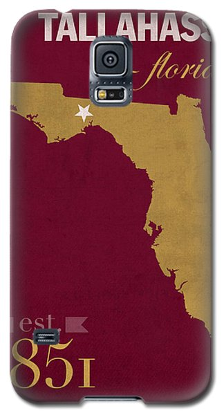 Florida State University Seminoles Tallahassee Florida Town State Map Poster Series No 039 Galaxy S5 Case by Design Turnpike