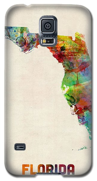Florida Watercolor Map Galaxy S5 Case by Michael Tompsett