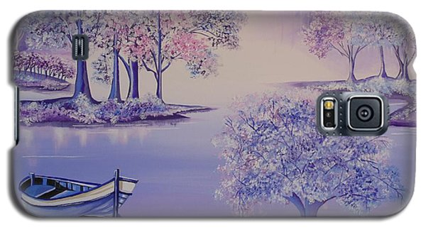 Galaxy S5 Case featuring the painting Flourish II by Nereida Rodriguez