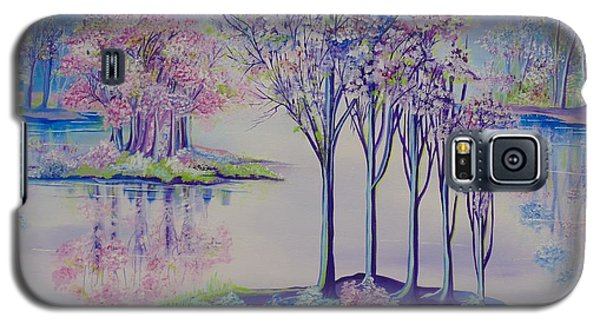 Galaxy S5 Case featuring the painting Flourish by Nereida Rodriguez