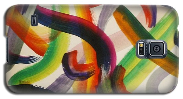 Galaxy S5 Case featuring the painting Flow by Thomasina Durkay