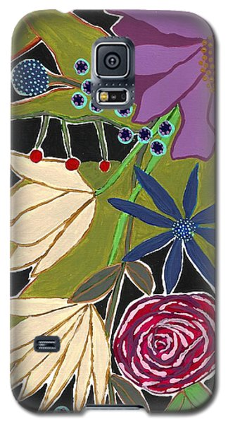 Galaxy S5 Case featuring the mixed media Flower Bouquet by Lisa Noneman