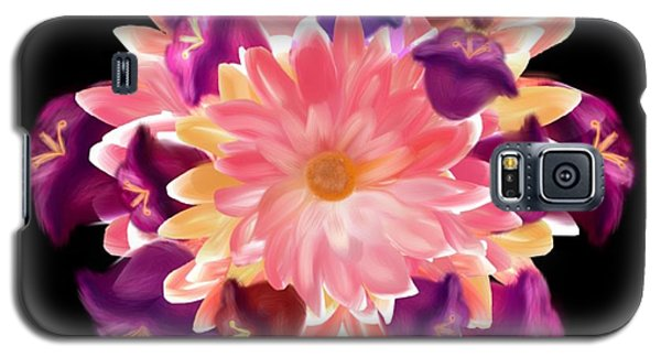Flower Circle Galaxy S5 Case by Christine Fournier
