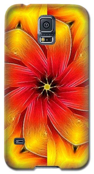 Flower Close-up--fractalius Kaleidoscope Galaxy S5 Case