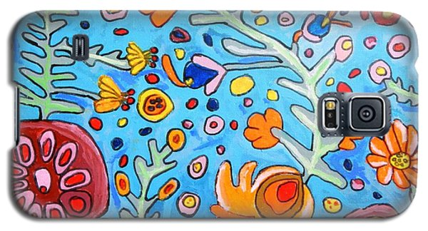 Galaxy S5 Case featuring the painting Flower Dream by Artists With Autism Inc