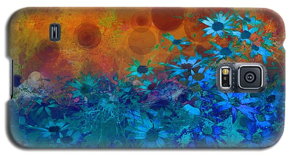 Flower Fantasy In Blue And Orange  Galaxy S5 Case by Ann Powell
